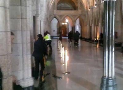 News video: Raw: Shooting Inside Canadian Parliament