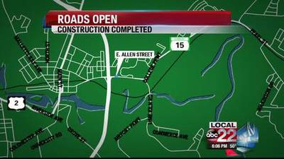 News video: Railroad Construction on Route 15 Complete